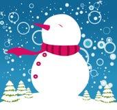 ευτυχής χιονάνθρωπος Στοκ Εικόνα