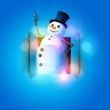 Ευτυχής χιονάνθρωπος Στοκ Φωτογραφία
