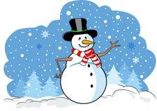 ευτυχής χιονάνθρωπος Στοκ Φωτογραφίες