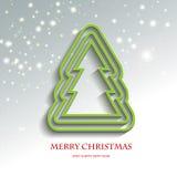 Ευτυχής-Χριστούγεννο-δέντρο Στοκ φωτογραφία με δικαίωμα ελεύθερης χρήσης