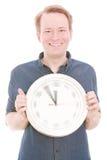 Ευτυχής χρόνος (έκδοση χεριών ρολογιών περιστροφής) Στοκ φωτογραφίες με δικαίωμα ελεύθερης χρήσης