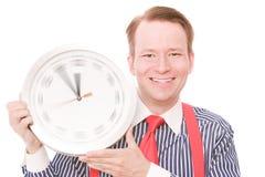 Ευτυχής χρόνος (έκδοση χεριών ρολογιών περιστροφής) Στοκ Εικόνα