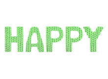 Ευτυχής Χρώμα πράσινο Στοκ εικόνα με δικαίωμα ελεύθερης χρήσης