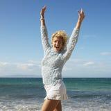 ευτυχής όμορφη γυναίκα στοκ εικόνες με δικαίωμα ελεύθερης χρήσης