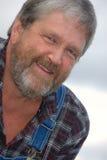 ευτυχής ώριμος αγροτών Στοκ φωτογραφία με δικαίωμα ελεύθερης χρήσης