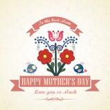 Ευτυχής floral ευχετήρια κάρτα ημέρας μητέρων