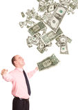 ευτυχής moneymaker Στοκ εικόνα με δικαίωμα ελεύθερης χρήσης