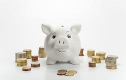 Ευτυχής piggy τράπεζα Στοκ Φωτογραφία