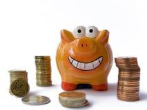 ευτυχής piggy τραπεζών Στοκ Εικόνα