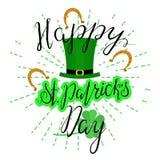 Ευτυχής ST Patricka ημέρα εγγραφής Στοκ Εικόνα