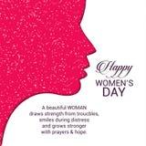 Ευτυχής typogrpahic κάρτα ημέρας γυναικών \ «s με το elegent σχέδιο Στοκ εικόνα με δικαίωμα ελεύθερης χρήσης