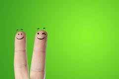 Ευτυχή δάχτυλα στοκ εικόνα με δικαίωμα ελεύθερης χρήσης