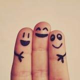 Ευτυχή δάχτυλα Στοκ φωτογραφίες με δικαίωμα ελεύθερης χρήσης