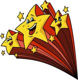 Ευτυχή αστέρια πυροβολισμού απεικόνιση αποθεμάτων