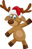Ευτυχή ελάφια κινούμενων σχεδίων Χριστουγέννων Στοκ Εικόνες