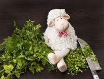 Ευτυχή και πλήρη πρόβατα Στοκ εικόνα με δικαίωμα ελεύθερης χρήσης