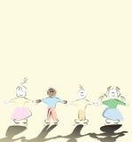 ευτυχή κατσίκια Στοκ εικόνα με δικαίωμα ελεύθερης χρήσης