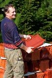 ευτυχή κεραμίδια στεγών &al στοκ φωτογραφίες