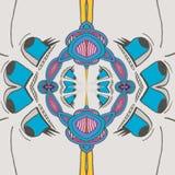 Ευτυχή κινούμενα σχέδια μπλε ματιών απεικόνιση αποθεμάτων
