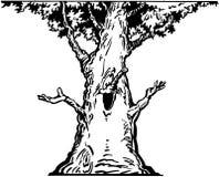 Ευτυχή κινούμενα σχέδια διανυσματικό Clipart δέντρων Στοκ Εικόνες