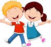 Ευτυχή κινούμενα σχέδια παιδιών Στοκ Εικόνα