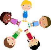 Ευτυχή κορίτσια και αγόρια Στοκ εικόνα με δικαίωμα ελεύθερης χρήσης