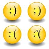 ευτυχή λυπημένα smileys txt Στοκ Εικόνες