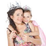 Ευτυχή μητέρα και μικρό κορίτσι Στοκ Φωτογραφίες