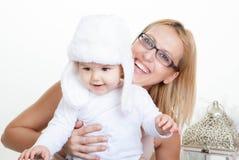Ευτυχή μητέρα και μωρό στοκ φωτογραφία