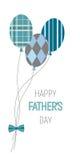 Ευτυχή μπαλόνια ημέρας πατέρων Στοκ Εικόνα