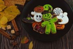 Ευτυχή μπισκότα αποκριών Στοκ Φωτογραφίες