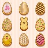 Ευτυχή μπισκότα Πάσχας Στοκ Φωτογραφία