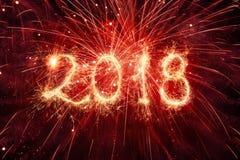 Ευτυχή νέα έτη 2018 Στοκ Φωτογραφίες