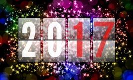 2017 ευτυχή νέα έτη Στοκ Εικόνες