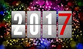 2017 ευτυχή νέα έτη Στοκ Εικόνα