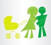 Ευτυχή οικογενειακά εικονίδια Στοκ φωτογραφία με δικαίωμα ελεύθερης χρήσης
