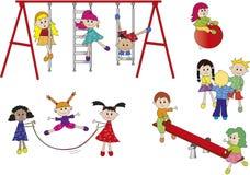 Ευτυχή παιδιά ελεύθερη απεικόνιση δικαιώματος