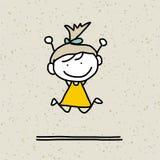 Ευτυχή παιδιά κινούμενων σχεδίων σχεδίων χεριών Στοκ Εικόνες