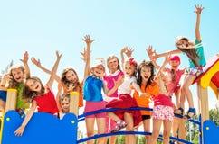 Ευτυχή παιδιά στοκ φωτογραφία με δικαίωμα ελεύθερης χρήσης