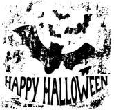 Ευτυχή ρόπαλα αποκριών Grunge σε γραπτό διανυσματική απεικόνιση