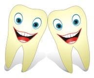 ευτυχή υγιή δόντια Στοκ εικόνα με δικαίωμα ελεύθερης χρήσης