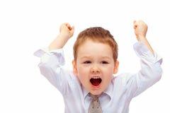 Ευτυχή χέρια αύξησης επιχειρησιακών παιδιών Στοκ Εικόνα