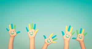 Ευτυχή χέρια smiley Στοκ Εικόνες