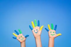 Ευτυχή χέρια smiley Στοκ Φωτογραφία