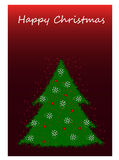 Ευτυχή Χριστούγεννα στο άσπρο υπόβαθρο Στοκ φωτογραφία με δικαίωμα ελεύθερης χρήσης