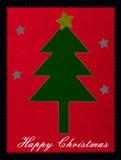 Ευτυχή Χριστούγεννα ύφους ραψίματος Applique Στοκ Εικόνα