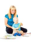 Ευτυχή mom και μωρό Στοκ φωτογραφίες με δικαίωμα ελεύθερης χρήσης