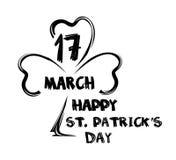 ευτυχή patricks ST ημέρας 17 Μαρτίου Τυπογραφική εγγραφή ημέρας Αγίου Patricks Συρμένη χέρι εγγραφή ημέρας του ST Patricks Στοκ Εικόνα