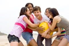 ευτυχή teens Στοκ εικόνα με δικαίωμα ελεύθερης χρήσης
