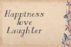 Ευτυχία, αγάπη, πλαίσιο γέλιου ελεύθερη απεικόνιση δικαιώματος